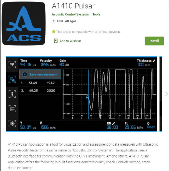 The new App software A1410 PULSAR for ANDROID is available for download at GooglePlay
